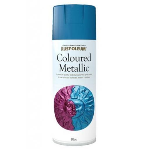 ELEGANT METALLIC BLUE RUST-OLEUM Fast Dry Spray Paint Aerosol 400ml