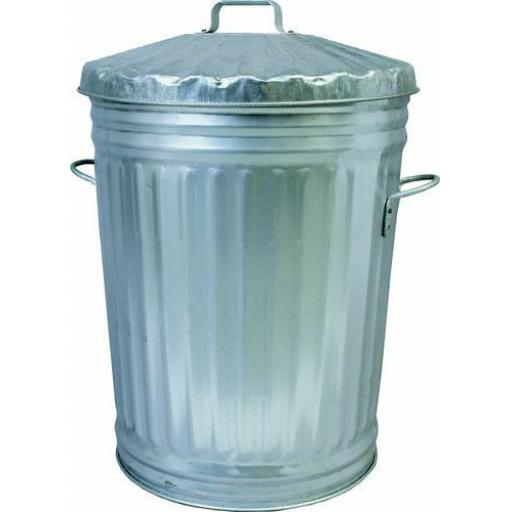 90 Litre Galvanised Metal Waste Dustbin Feed Store With Lid Horse Pet Food