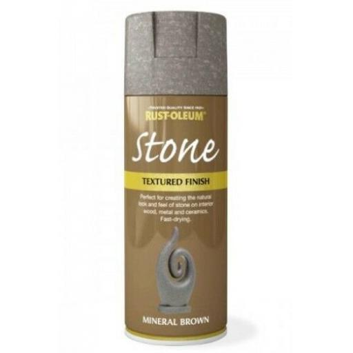 STONE EFFECT MINERAL BROWN RUST-OLEUM Spray texture & feel Paint Aerosol 400ml