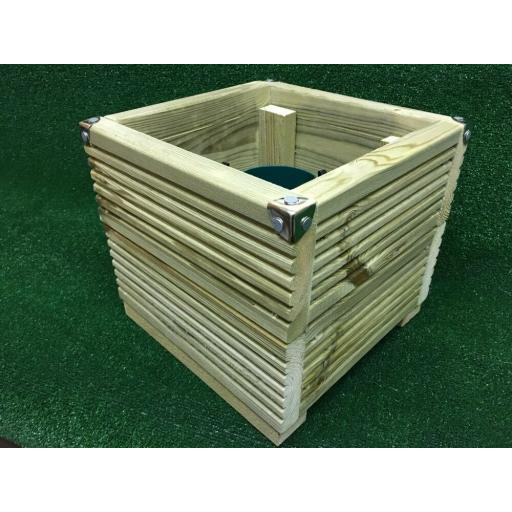 """Luxury Wooden Christmas Tree Stand 30cm Square up to 4.5"""" Trunk Real Xmas Box"""