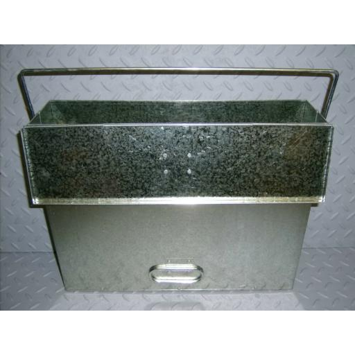 !NEW! Large Galvanised Ash Carrier Tidy Holder Coal Log Fire Stove All Purpose