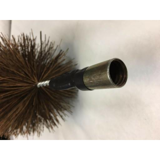 """NEW 5"""" inch x 30ft Long Flue Brush Chimney Soot Cleaning Sweeping Set Drain Rods"""