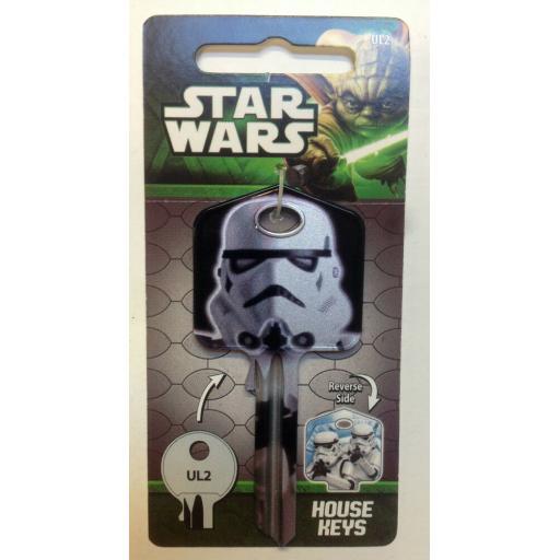 Star Wars STORMTROOPER Blank Key fits Yale 1A/U6D/UL2 Sith The Force Awakens