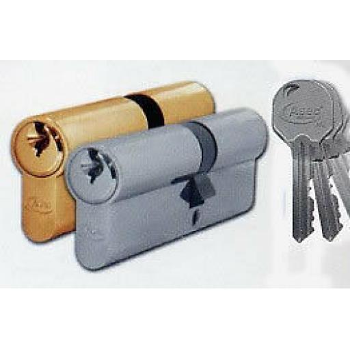 Euro Profile Cylinder UPVC Doors Brass or Nickel 35/40