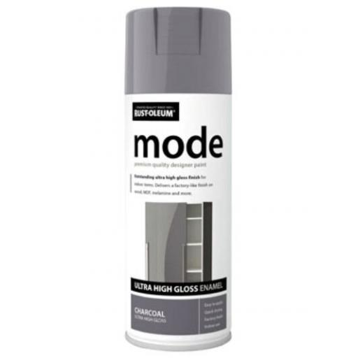 MODE CHARCOAL HIGH GLOSS RUST-OLEUM Fast Dry Spray Paint Aerosol 400ml