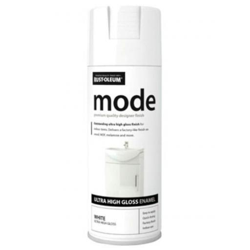 MODE WHITE HIGH GLOSS RUST-OLEUM Fast Dry Spray Paint Aerosol 400ml