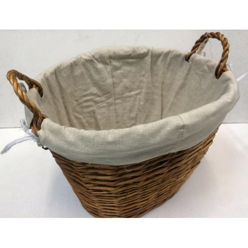 Oval B All Size Heavy Duty Hand Made Wicker Coal Fire Log Laundry Storage Basket