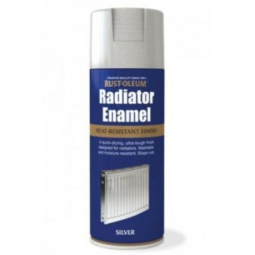 RADIATOR ENAMEL SILVER METALLIC RUST-OLEUM Fast Dry Spray Paint Aerosol 400ml