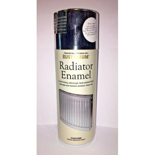 RADIATOR ENAMEL CHROME METALLIC RUST-OLEUM Fast Dry Spray Paint Aerosol 400ml