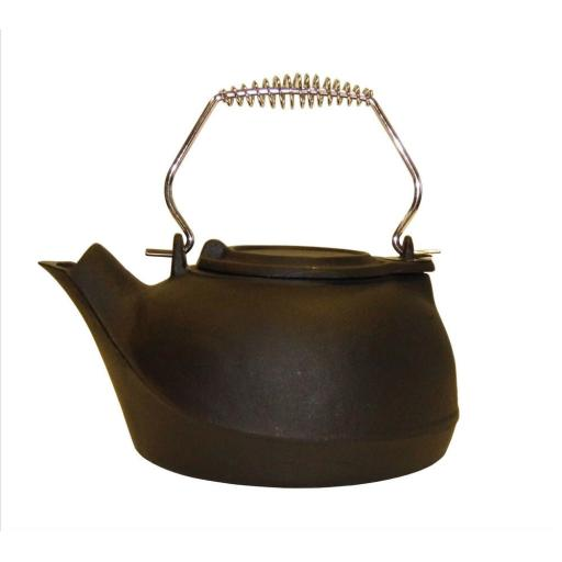 "!NEW! Deville 10"" Cast Iron Kettle Humidifier for Log Wood Burning Stoves Hearth"